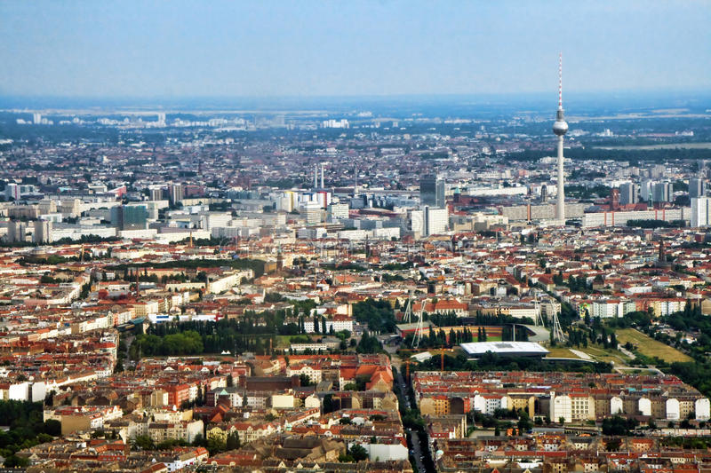 Berlin aerial view royalty free stock photos