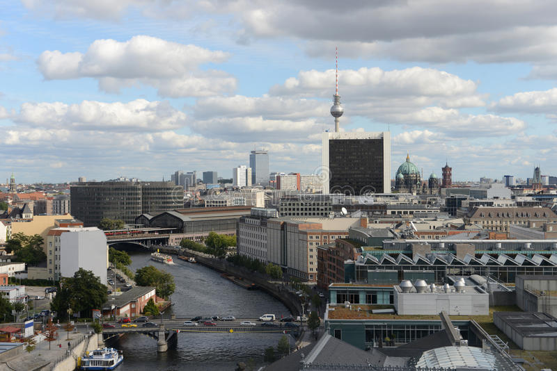 Berlin aerial view royalty free stock photo