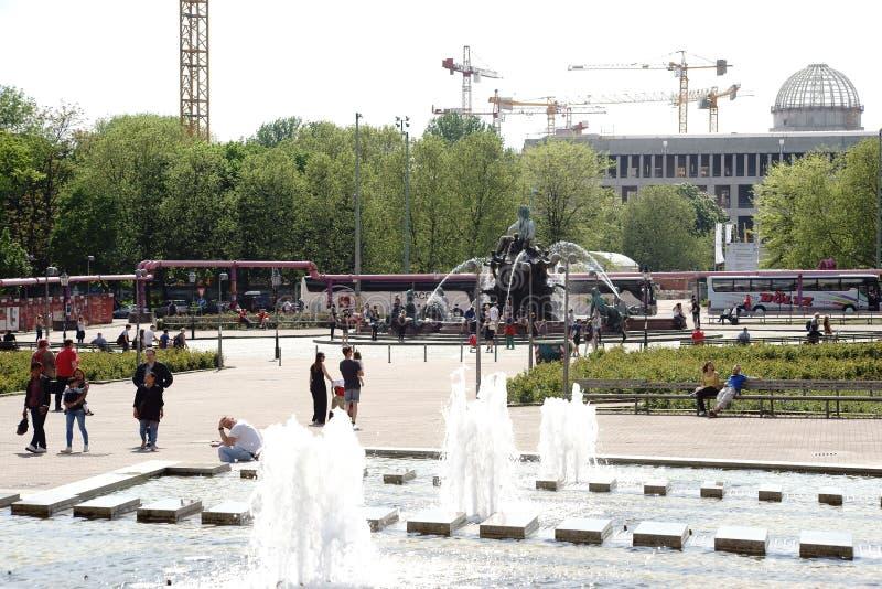 Berlin Alexander Square royaltyfria bilder