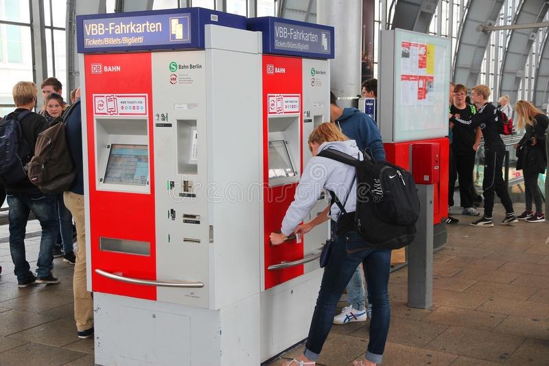 Berlin Alexanderplatz station royaltyfria foton