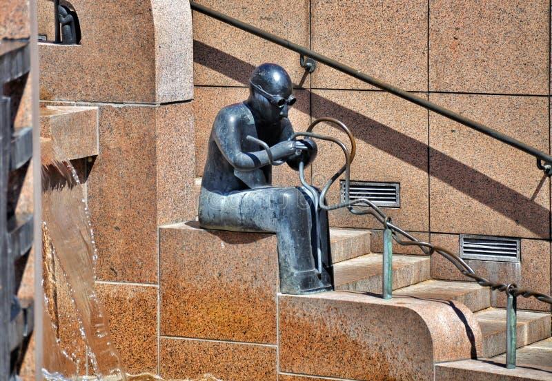 Berlin, Allemagne : Fontaine de Platz d'Europa photo libre de droits