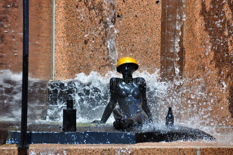 Berlin, Allemagne : Fontaine de Platz d'Europa image libre de droits
