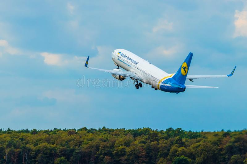 BERLIN, ALLEMAGNE - 7 septembre 2018 : L'Ukraine Airli international photographie stock