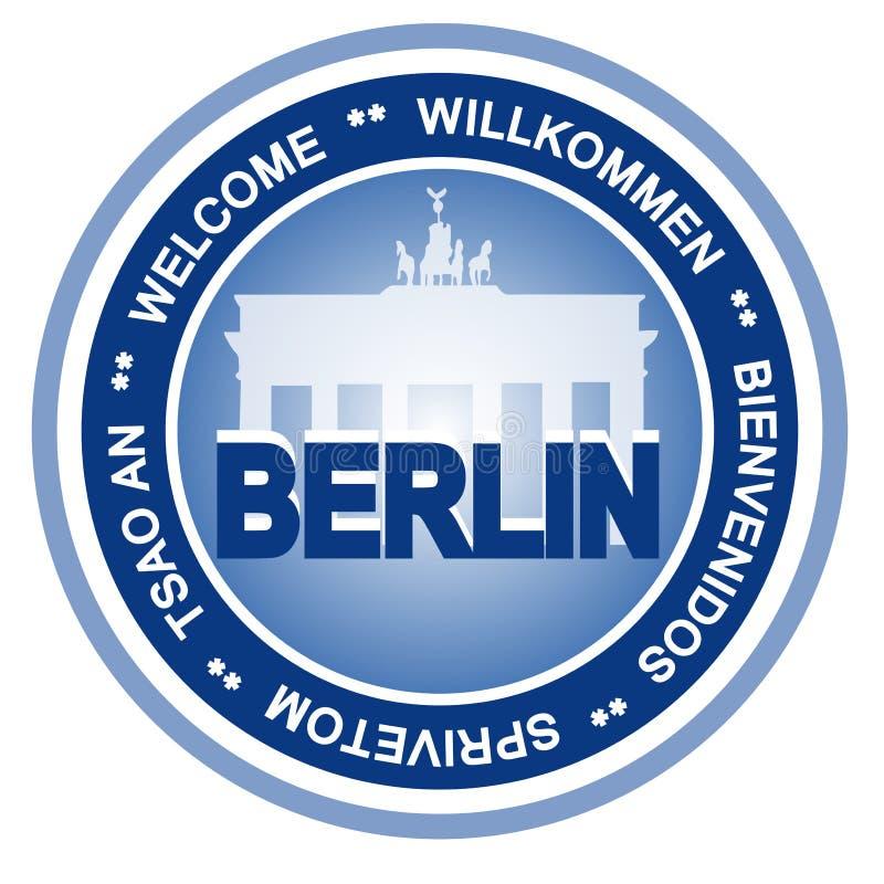 Berlin badge. An illustrated badge symbolizing the city of Berlin vector illustration