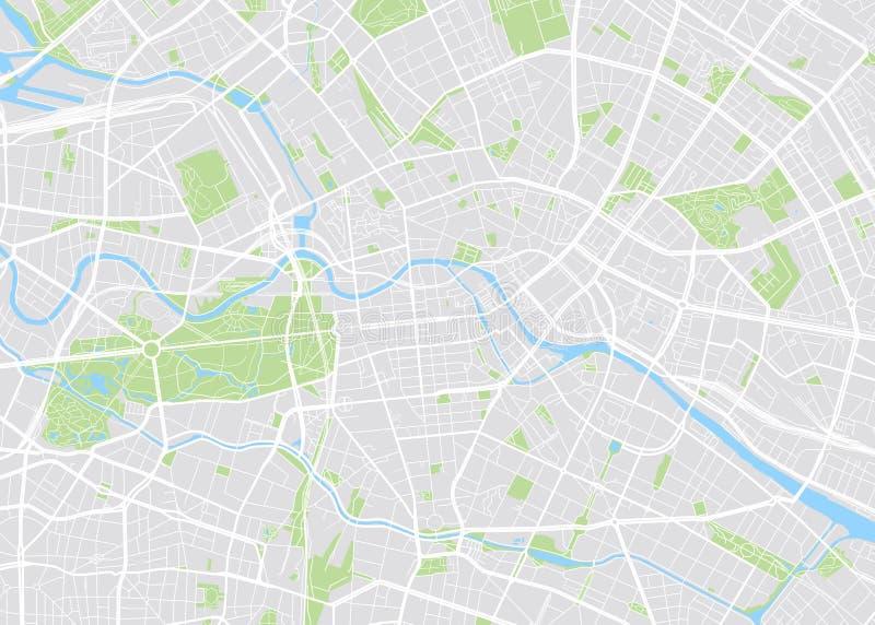 Berlin barwił wektorową mapę ilustracja wektor