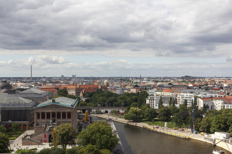 Berlin from the Berliner Dom royalty free stock images