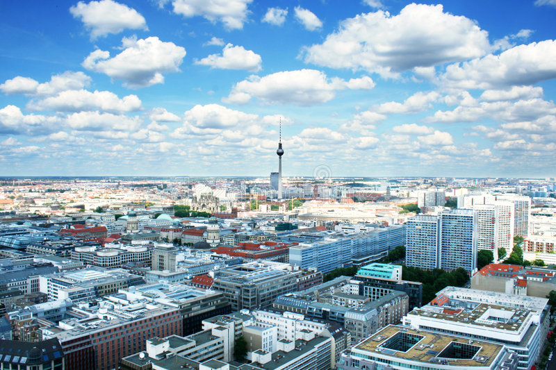 Download Berlin bird's-eye view stock photo. Image of beautiful - 7553150