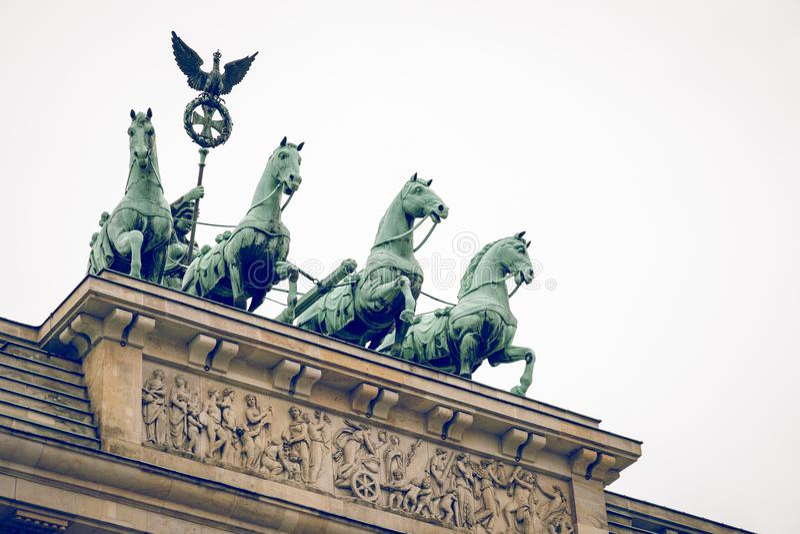 Berlin Brandenburg Gate Brandenburger Tor, Berlín, Alemania imagen de archivo