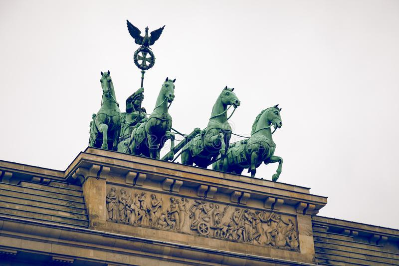 Berlin Brandenburg Gate Brandenburger Tor, Berlín, Alemania foto de archivo libre de regalías
