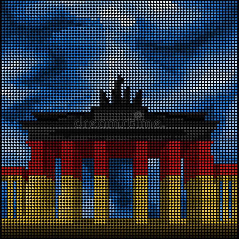 Berlin - Brandenburg Gate -. Capital of Germany - Berlin - Brandenburg Gate royalty free illustration
