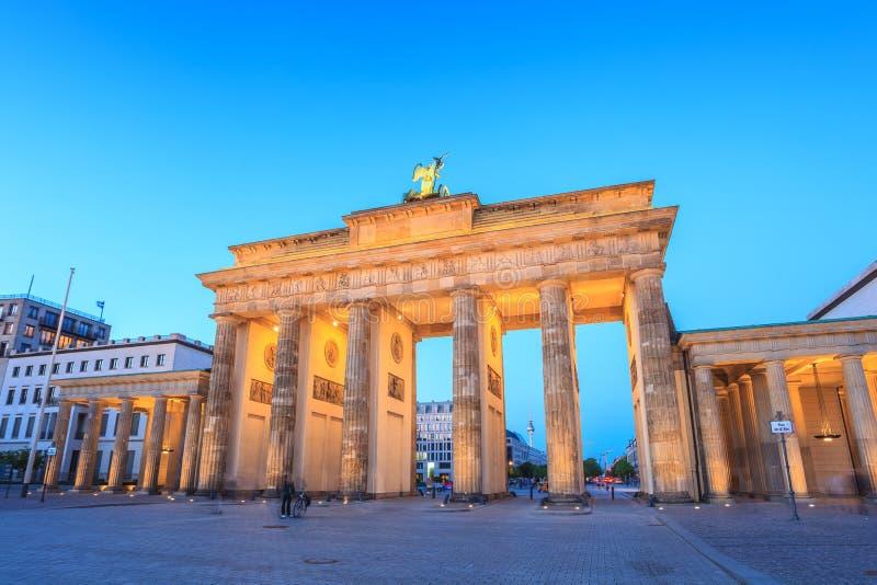 Berlin Brandenburg Gate, Duitsland stock foto's