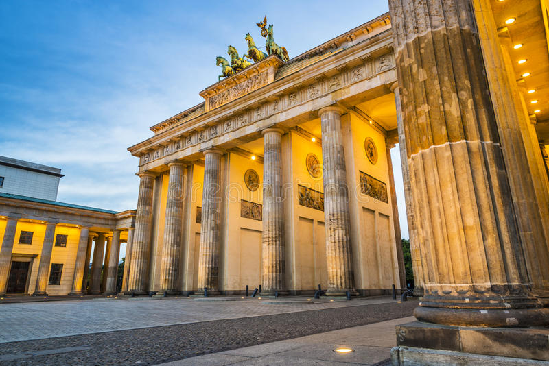 Download Berlin at Brandenburg Gate stock image. Image of arch - 36645867