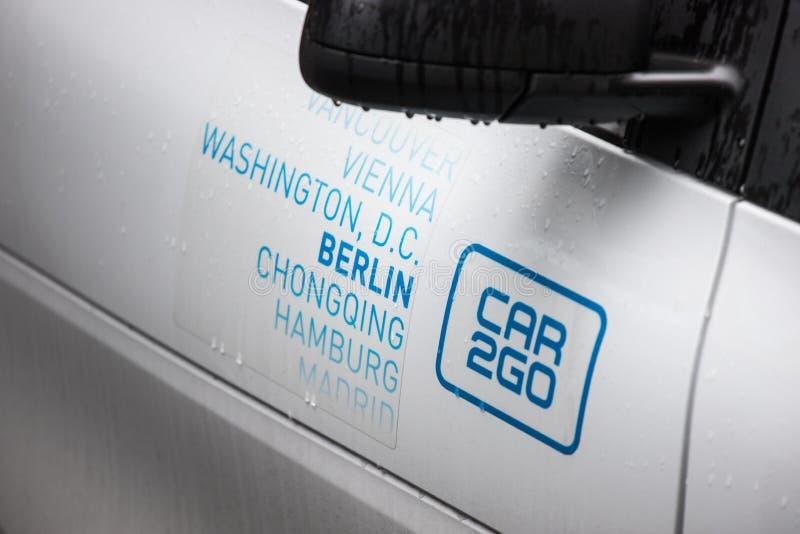 Car2go in berlin germany royalty free stock photo