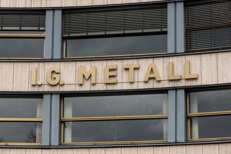 Berlin, brandenburg/germany - 15 03 19: ig metall building  in berlin germany. Berlin, brandenburg/germany - 15 03 19: an ig metall building  in berlin germany stock image