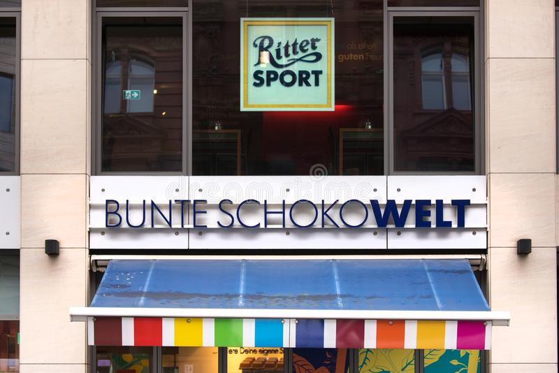 Ritter sport chocolate shop in berlin germany royalty free stock photo