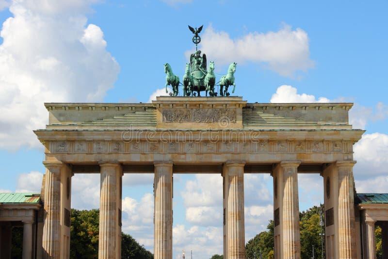 berlin brandenburg port royaltyfri fotografi