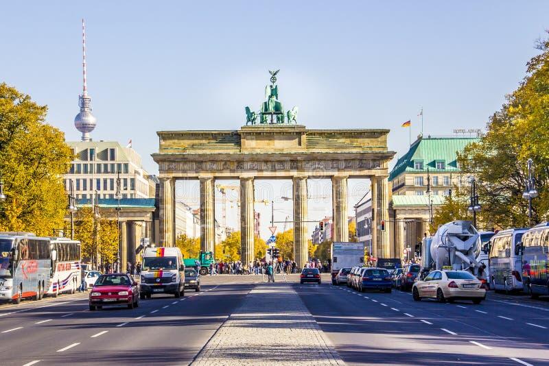 berlin brandenburg port arkivbilder