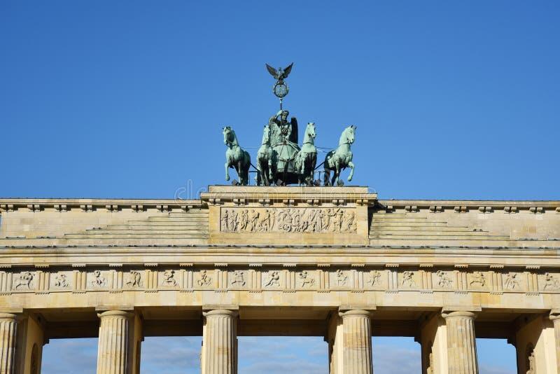 berlin brandenburg port royaltyfri bild