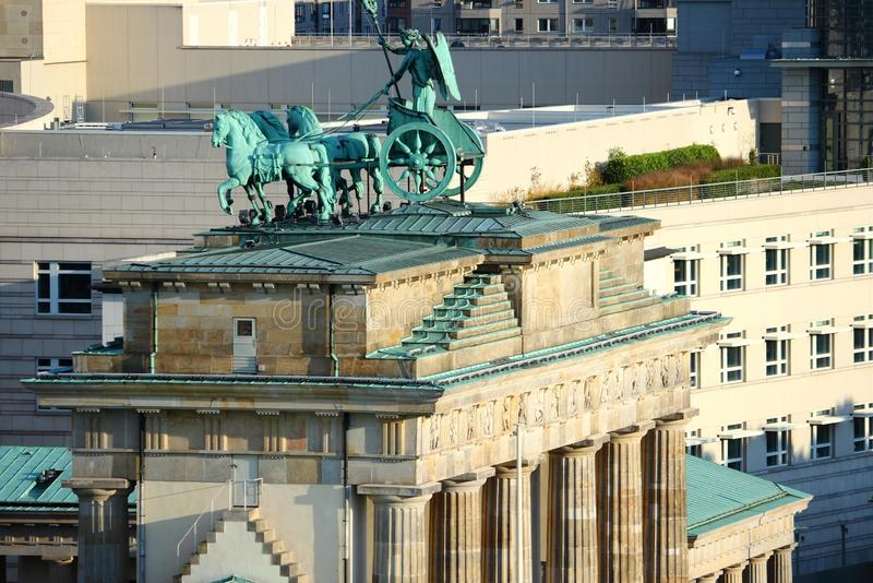 berlin brandenburg port royaltyfria bilder