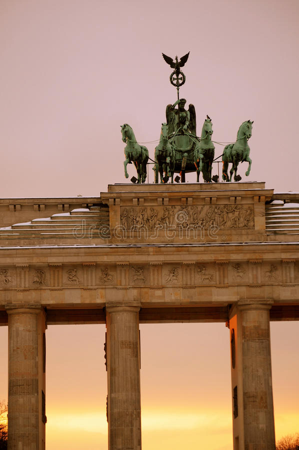 Berlin. Brandenburg Tor (Gate) detail stock images