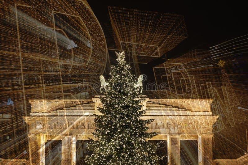 berlin brandenburgerport royaltyfri foto