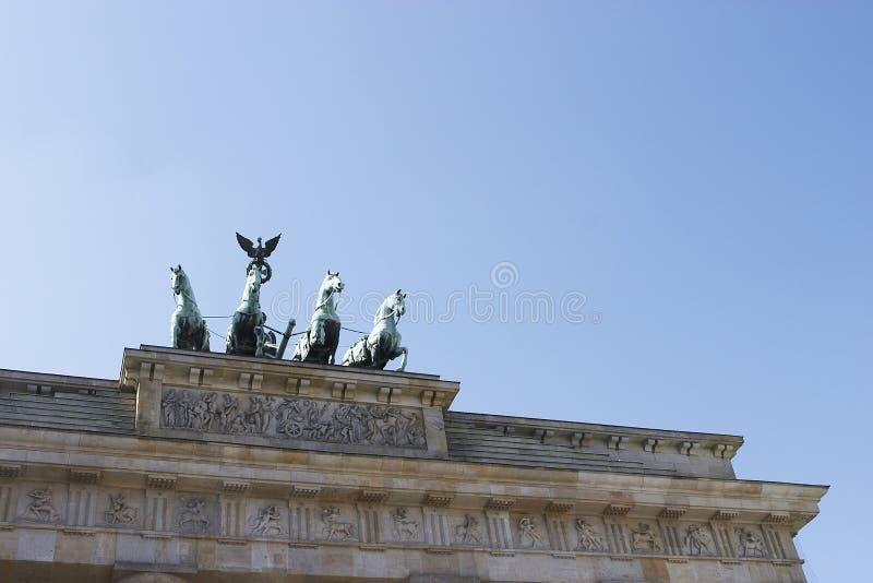 Berlin, Brandenburgertor un projectile de groupe photographie stock libre de droits