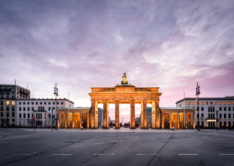 berlin Brandenburgii brama German fotografia royalty free