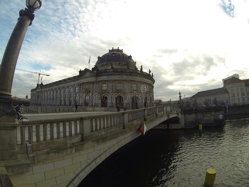 Berlin bridge stock photo