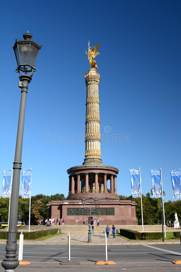 The Victory Column. Berlin. Germany. Berlin is the capital and largest city of Germany; the Victory Column is a monument to commemorate the Prussian victory in royalty free stock photos