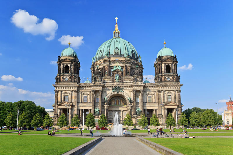 Berlin Cathedral stock afbeeldingen