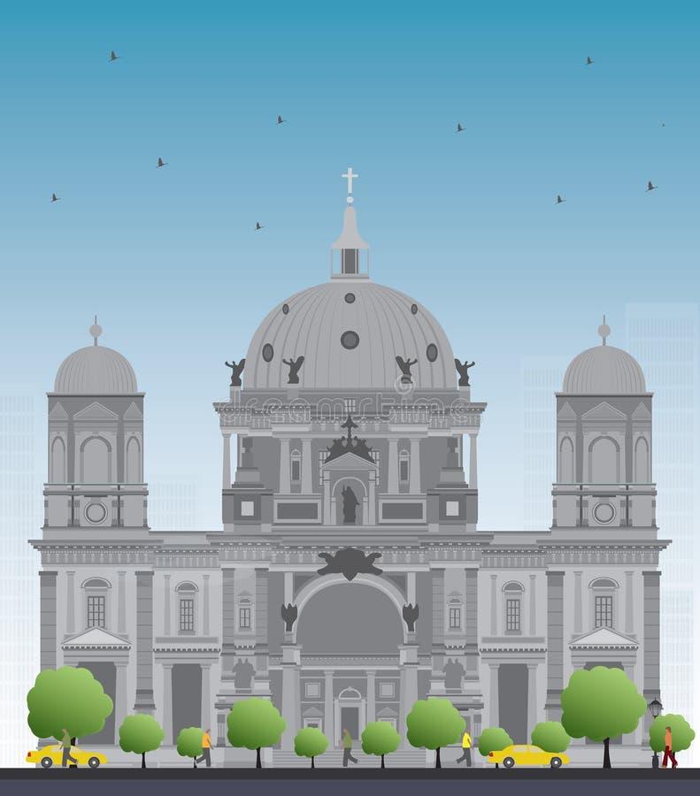 Berlin Cathedral in Berlijn vector illustratie