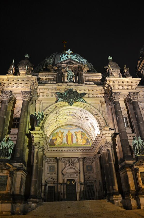 Free Berlin Cathedral Berliner Dom At Night , Germany Stock Image - 170899151