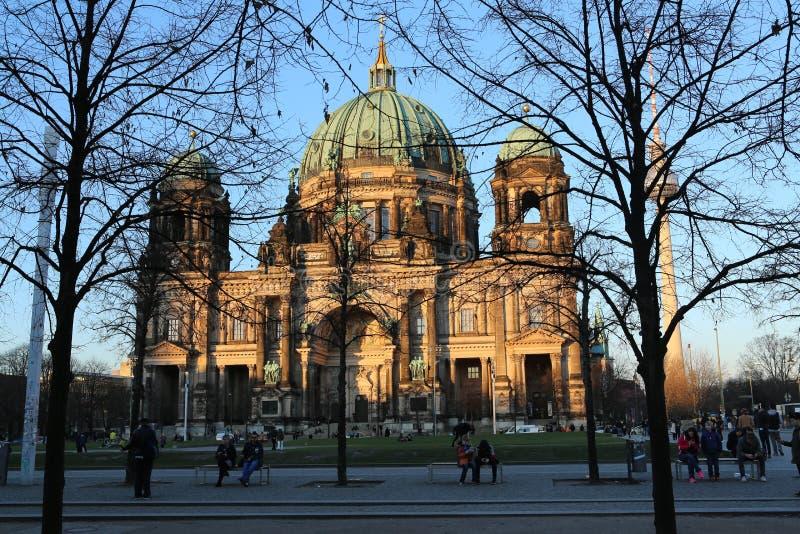Berlin Cathedral Church Berliner Dom stockbilder