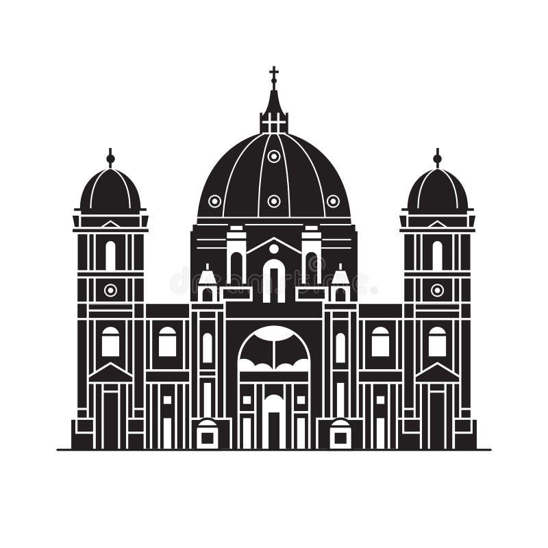 Berlin Cathedral Icon illustration de vecteur