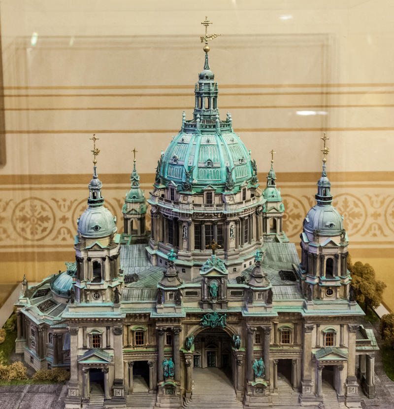 Berlin Cathedral Model stock foto