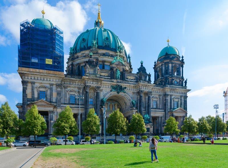 Berlin Cathedral på den berömda museumön, Berlin, Tyskland arkivbilder