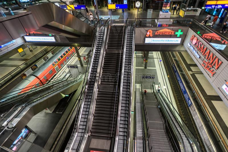 Berlin Central Station royalty free stock photos