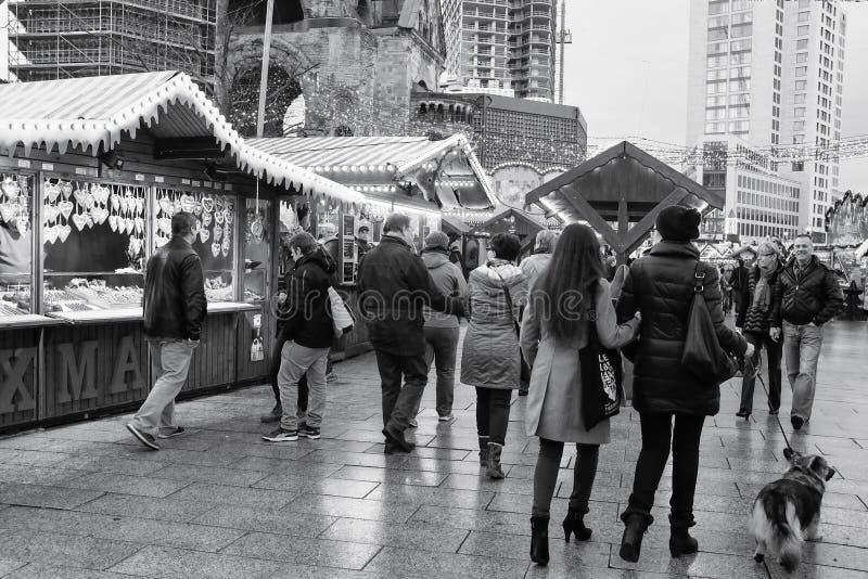 Berlin Christmas Market Kaiser-Wilhelm photographie stock