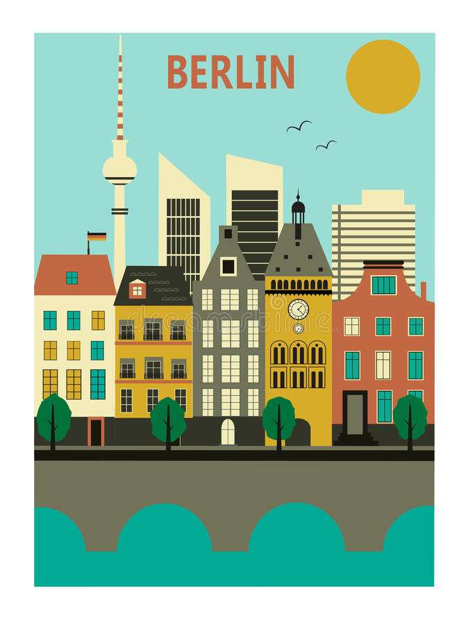 Berlin city. Germany. Vector illustration royalty free illustration