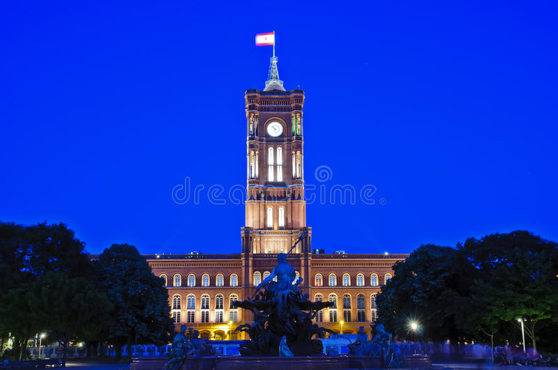Download Berlin city hall stock image. Image of light, cityscape - 16794505