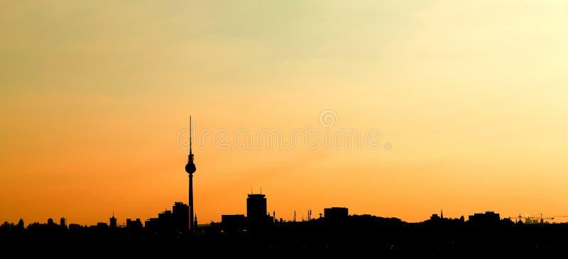 Berlin City Skyline Background Panorama-Fahne stockbilder