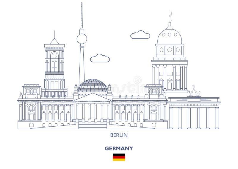 Berlin City Skyline, Deutschland lizenzfreie abbildung