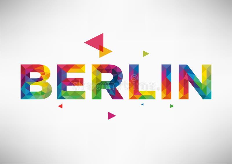 Berlin City Vector Design géométrique illustration stock