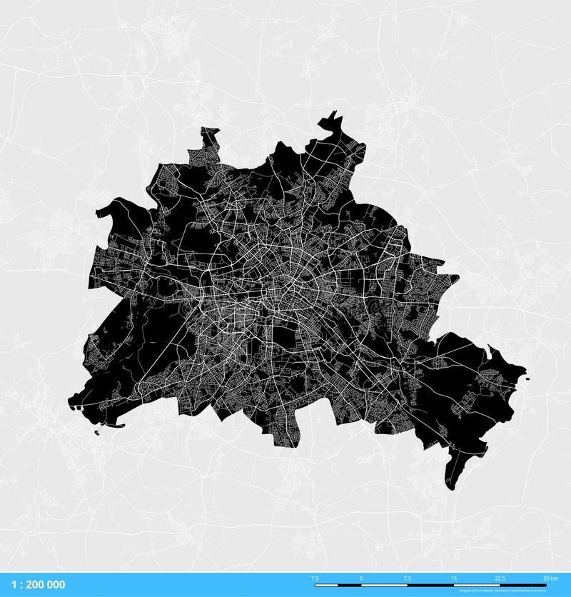 Berlin City Vector Map illustration de vecteur