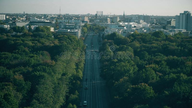 Berlin cityscape behind the Tiergarten park, Germany. Berlin cityscape behind the Tiergarten park royalty free stock photos