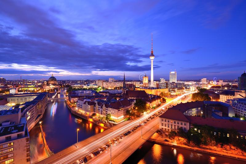 Berlin Cityscape royalty free stock image