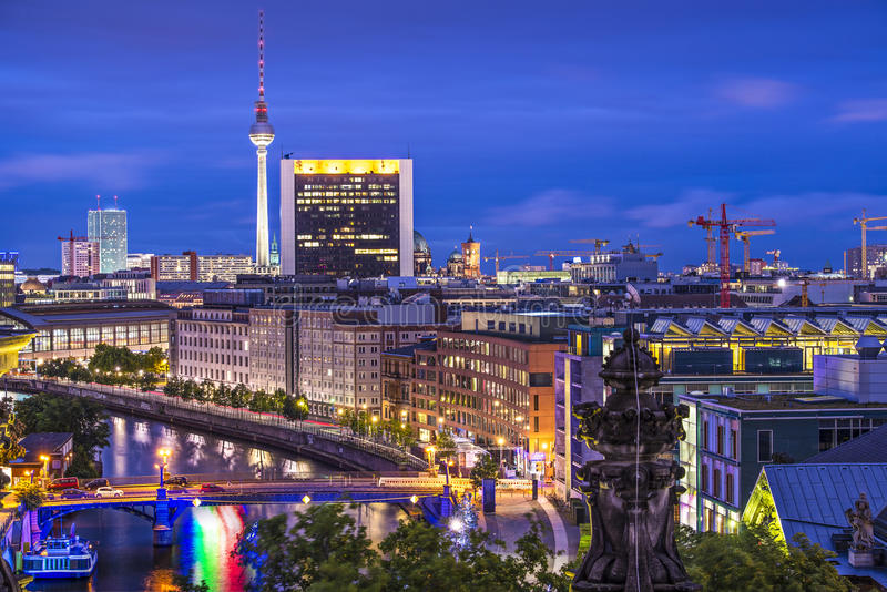 Berlin Cityscape stock image