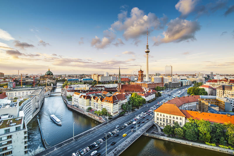 Berlin Cityscape royalty free stock photos