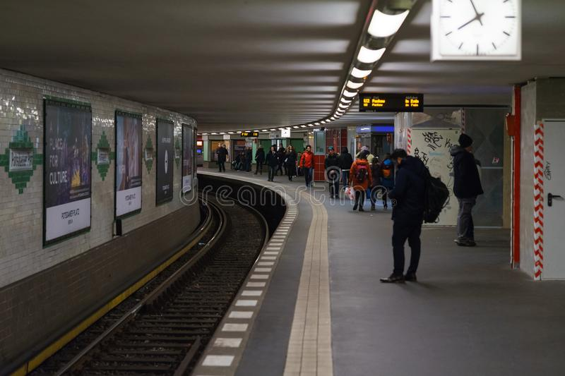 Subway station of U2 Lines - Potsdamer Platz. royalty free stock photos