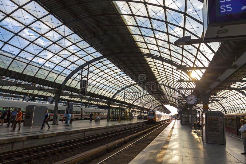 Berlin Deutsche Bahn stacja, Berliński okręg Spandau, Niemcy zdjęcia stock